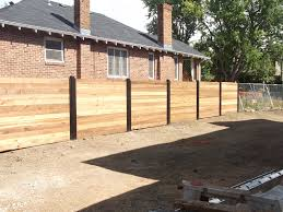 horizontal wood and metal fence. Contemporary And Denver Privacy Fence With Metal Posts This Is At 5th And Milwaukee Plan On Inside Horizontal Wood And Metal Fence T