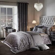 Elegance Lia Silver Luxury Embellished Duvet Set - Julian Charles