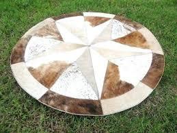 round cowhide rug star cowhide rug cow hide skin carpet leather round patchwork area cowhide rug round cowhide rug