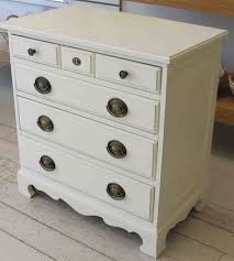 small bed side tables with cly white painting and 5 drawers as storage design for small bedside tables modern