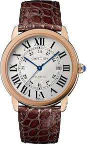 1000 ideas about leather watches for men mens cartier ronde solo de cartier 18ct pink gold stainless steel and leather watch