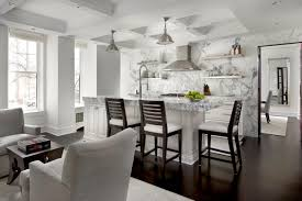 ... Marvelous Home Interior With Modern Coffered Ceiling : Fancy Decorating  Ideas Using Rectangular Silver Range Hoof ...