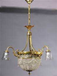 6 light crystal basket chandelier