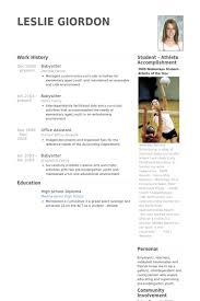 Babysitter Resume Samples Visualcv Resume Samples Database
