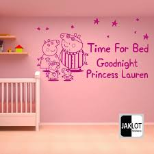 huge peppa pig decal removable wall sticker home decor art kids bedroom removable wall stickers art kids and removable wall on peppa pig wall art stickers with huge peppa pig decal removable wall sticker home decor art kids