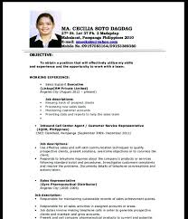Example Resume For Job Application. Example Resume For Job ...