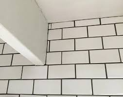 White subway tile grout color Tan Grout Decoration Our Efforts To Clean All The Mastic Off Before It Dried Really Paid We Myseedserverinfo Decoration White Subway Tile With Dark Grout Beveled Kitchen Color
