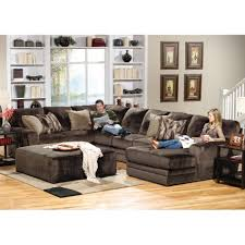 Everest Sectional Armless Sofa LAF Sectional & RSF Chaise 4377