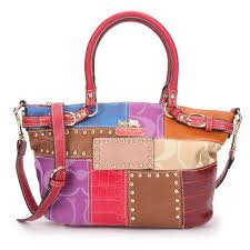 Coach Holiday Kelsey In Signature Medium Red Multi Satchels EBP