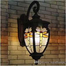 2019 european style villa gate waterproof outdoor lamp outdoor courtyard wall lamp dragonfly iron wall outdoor lamp wall lights from royallamps