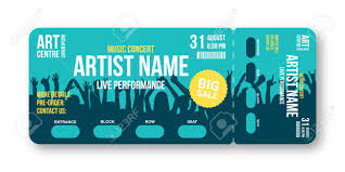 Ticket Design Concert Ticket Template Concert Party Disco Or Festival Ticket