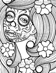 Small Picture Skull Coloring Pages For Adults Adult Halloween Sugar Skull