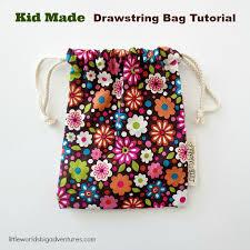 Drawstring Bag Pattern Amazing Drawstring Bag Tutorial For Kids Little Worlds