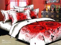 roses bedding sets red rose comforter set red rose blossom wedding bedding set printed cotton duvet