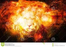 лев в космическом космосе фото льва и графическое влияние