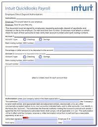 Employee Direct Deposit Authorization Agreement 19 Quickbooks Direct Deposit Forms Free Download