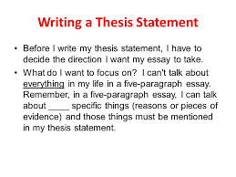 writing a thesis statement ppt video online  writing a thesis statement
