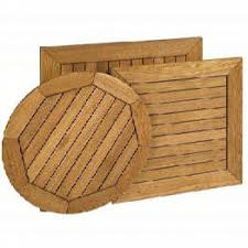 oudoor wood restaurant table tops slatted robinia round replacement patio table tops newsonairorg