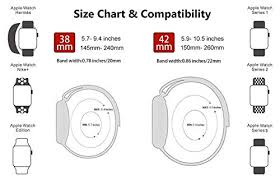 Apple Watch Size Chart Ibander Bands For Apple Watch Series 4 3 2 1 38mm 40mm 42mm 44mm Milanese Mesh Loop With Magnetic Clasp Stainless Steel Replacement Band