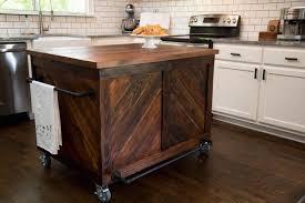 vintage wood kitchen island
