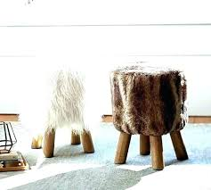 diy fur stool furry diy fur vanity chair diy fur