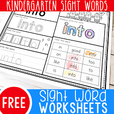 You are off a great help, will. Free Printable Kindergarten Sight Words Worksheets