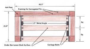 patio bar plans build. patio bar under lower deck plan plans build y