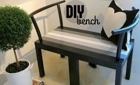 diy bench from two chairs. diy bench from two chairs b
