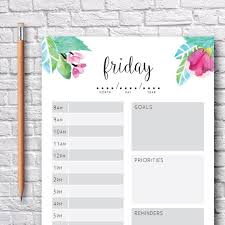 Printable Weekly Planners Weekly Organizer To Do List Etsy