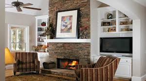 stone tile fireplace whitestone with built ins mantel bookcase size modern decor bookcases around in shelves and tv design ideas wall photos cabinets white