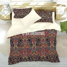paisley duvet cover bohemian burdy red paisley bedding red paisley duvet cover set traditional paisley comforter