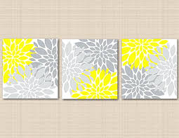 yellow and grey wall art yellow and gray canvas wall art unbelievable wild com fl