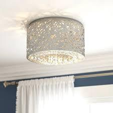 antonia 4 light crystal semi flush mount chandelier with chrome