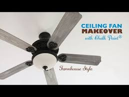 diy ceiling fan makeover with chalk