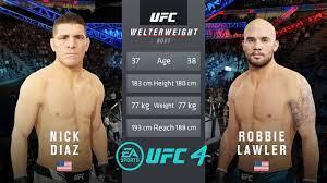 UFC 266 - Nick Diaz Vs Robbie Lawler II ...