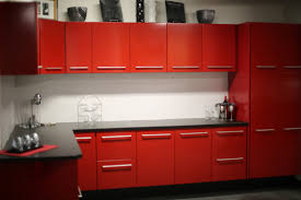 Red And Black Kitchen Cabinets 3alhkecom A Excellent Custom Red Kitchen Cabinets Made With Gloss