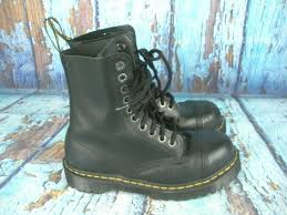 dr martens steel toe black leather combat tall air wair 10966 men s us 7 new listing footwear boots sidelineswap
