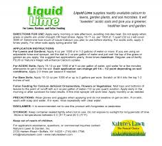 liquid lime for lawn garden natures