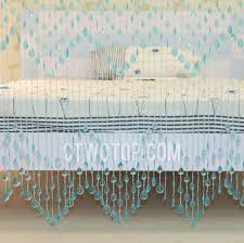 elite light blue beaded curtains forty five strings of beads 2cm interval