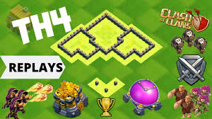 Town Hall 4 Base Design Best Th4 Base With Replays Copy Link Town Hall 4 Base Design Clash Of Clans