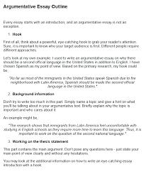 argumentative essay exles with