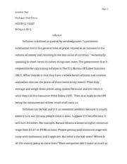 inflation study resources 2 pages eco2013 inflation essay