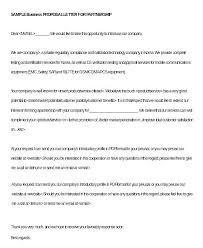 Business Proposals Templates Partnership Proposal Sample Dovoz