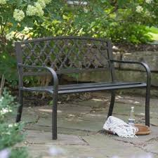 aluminum garden bench.  Aluminum Coral Coast Crossweave Curved Back 4ft Metal Garden Bench To Aluminum A