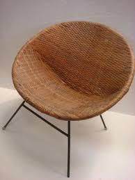E Mid Century Modern Wicker Hoop Chair Lot 105 Mid Century Wicker Egg Chair