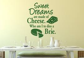 wall words  on wall art words stickers with sweet dreams are made of cheese wall decal quote cheesy vinyl art