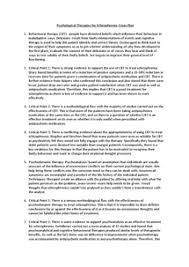 psychological therapies of schizophrenia essay plan document in preview of page 1 psychological therapies for schizophrenia essay plan