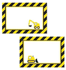 Printable Construction Signs Printable Construction Birthday In Printable Construction