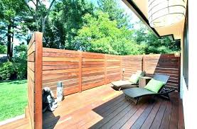 deck deck privacy wall outdoor fence redwood around in r