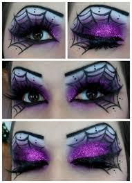 this spiderweb eye makeup screams
